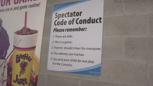 Spectator Code of Conduct from Port Moody. Image from CTV News.