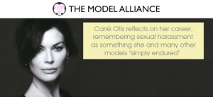 Carré Otis has spoken extensively about the abuses she faced within the industry. Image via The Model Alliance.