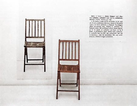 "Joseph Kosuth, ""One and Three Chairs."" (1965)"